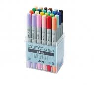 Набор маркеров для рисования Copic Ciao 24er, двусторонние с кистью, 24 цвета