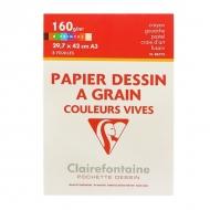 Набор художественной цветной бумаги Еtival Сolor CLAIREFONTAINE, А3, 160г/м2, 8 листов