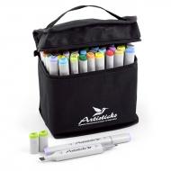 Набор художественных маркеров для скетчинга  Artisticks Style 100bag, 48 цветов, 2-сторонние, 1-6 мм + блендер в подарок!