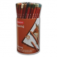 Набор цветных карандашей Derwent Drawing, 24 цвета, по 3шт., в тубусе