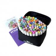 Набор художественных маркеров для скетчинга  Artisticks ARS-100-84, 84 цвета, 2-сторонние, 1-6 мм + книжка