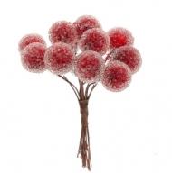 Красные ягоды на вставке Mr.Painter, пучок 24 шт.