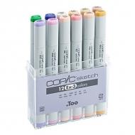 Набор маркеров COPIC sketch EX-3, 12 цветов