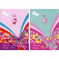 Набор белого мелованного картона для детского творчества Action! Hello Kitty, 8 листов, А4