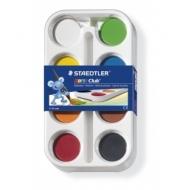 Hабор акварельных красок, 8 штук в наборе, пластиковая коробка