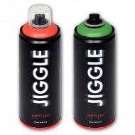Суперматовая аэрозольная краска для граффити JIGGLE, 520 мл