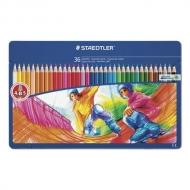 """Карандаши цветные Staedtler """"Noris club"""", 36 цветов, заточенные, металлический пенал"""