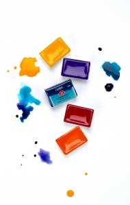 Акварельные краски в кюветах «Ладога» Невская Палитра, цвета поштучно