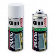Эмаль для ванн и керамики Kudo, аэрозоль, 520 мл, белая