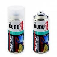 Яхтный влагостойкий лак Kudo, шелковисто-матовый, аэрозоль, 520 мл
