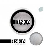 Профессиональный гипоаллергенный аквагрим FUSION перламутровый серебряный, 32 г