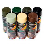 Аэрозольная светопоглощающая краска с камуфляжным эффектом MOTIP CAMOUFLAGE COLOUR бензостойкая, 520 мл