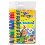 Набор маркеров по светлым тканям Javana Textil Sunny Medium С. Kreul, 12 цветов