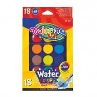 Акварельные краски Colorino, 18 цветов, 2 кисти