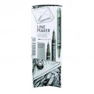 Набор линеров Graphik Line maker Derwent, 3 шт, графит