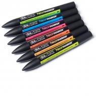 Набор художественных маркеров Neonmarker Fluorescent Marker Winsor&Newton, 6 цветов