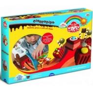 Набор для лепки Cioccodido, паста 5 цветов по 100г, пресс, формы, стеки, вспомогательные материалы