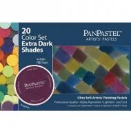 Набор ультрамягкой пастели PanPastel, 20 экстра темных оттенков и аксессуары