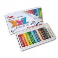 Пастель масляная Pentel XXL в картоне, мелки увеличенного диаметра, 12 цветов