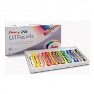 Мелки для рисования - пастель масляная Pentel в наборе 16 цветов