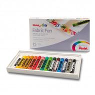 Пастель для рисования на ткани Pentel FabricFun Pastels 15 цветов