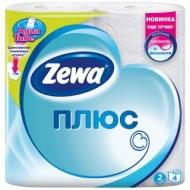 Бумага туалетная Zewa Плюс, 2-слойная, 4шт., тиснение, белая