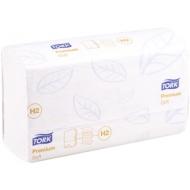 Полотенца бумажные лист. Tork XpressMultifold Premium(M-сл)(Н2), 2-слойные, 110л/пач, 21*34,белые
