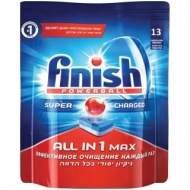 Таблетки для посудомоечной машины Finish All in 1 Max, 13шт.