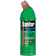 Чистящее средство для сантехники Sanfor Universal 10в 1. Морской бриз, гель с хлором, 750мл