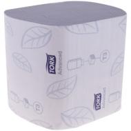 Бумага туалетная листовая Tork Advanced(ZZ-сл)(T3) 2-слойная, 242лист/пач, белая