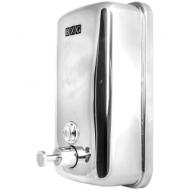 Диспенсер для жидкого мыла BXG, наливной, нерж.сталь, механический, хром, 1л