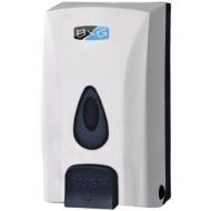 Диспенсер для жидкого мыла BXG, наливной, пластик, механический, белый, 1л