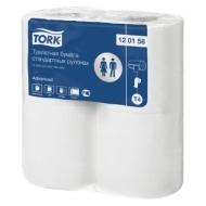 Бумага туалетная Tork Advanced(Т4) 2-слойная, стандарт. рулон, 23м/рул, 4шт., тиснение, белая