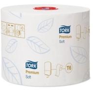 Бумага туалетная Tork Premium(Т6) 2-слойная, Mid-size рулон, 90м/рул, мягкая, тиснение, белая