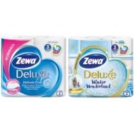 Бумага туалетная Zewa Deluxe 3-слойная, 4шт., тиснение, белая