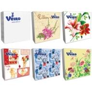 Салфетки бумажные Veiro 3-слойные, 33*33см, рисунок, 20шт.