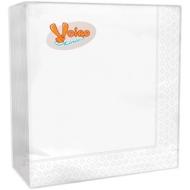 Салфетки бумажные Veiro 2-слойные, 33*33см, белые, 25шт.
