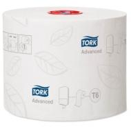 Бумага туалетная Tork Advanced(Т6) 2-слойная, Mid-size рулон, 100м/рул, мягкая, тиснение, белая