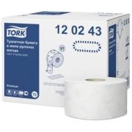 Бумага туалетная Tork Premium(T2) 2-слойная, мини-рулон, 170м/рул, мягкая, тиснение, белая