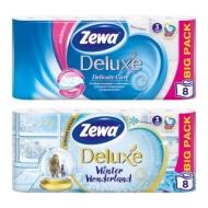 Бумага туалетная Zewa Deluxe 3-слойная, 8шт., тиснение, белая
