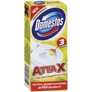 Стикер для очищения унитаза Domestos Attax. Лимонная свежесть, 3*10г