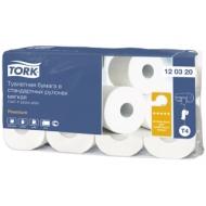 Бумага туалетная Tork Premium(T4) 2-слойная, стандарт. рулон, 23м/рул, 8шт., мягкая, тисн., белая