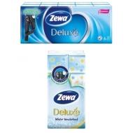 Платки бумажные носовые Zewa Deluxe 3-слойные, 19*21см, белые, 10 пачек по 10шт.
