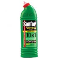 Чистящее средство для сантехники Sanfor Universal 10в 1. Лимонная свежесть, гель с хлором, 1л