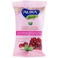 Салфетки влажные Aura Beauty, 15шт., освежающие