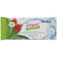 Салфетки влажные Aura Tropic coctail, 15шт., освежающие