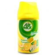Сменный баллон для освежителя воздуха Airwick Freshmatic Лимон и Женшень, 250мл