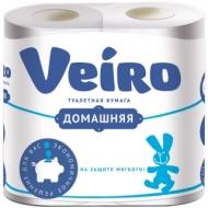 Бумага туалетная Veiro Домашняя 2-слойная, 4шт., тиснение, белая