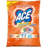 Пятновыводитель Ace OxiMagic Color, порошок, для цветных тканей, 200г