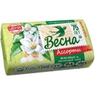 Мыло туалетное Весна Жасмин и зеленый чай, бумажная обертка, 90г